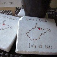 State Outline Favor Coasters, Set of 25