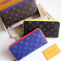Lv Louis Vuitton Monogram Canvas Ribbon Wallet