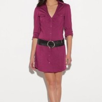 G by GUESS Selly Shirt Dress: Amazon.com: Clothing