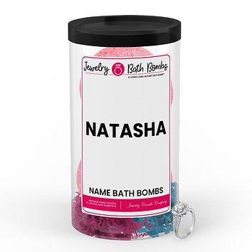 NATASHA Name Jewelry Bath Bomb Tube