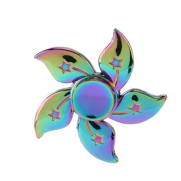 Rainbow Fidget Spinner- Flower Power