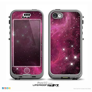 The Glowing Pink Nebula Skin for the iPhone 5c nüüd LifeProof Case
