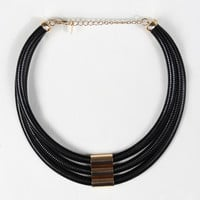 Triple Layer Edgy Collar Necklace