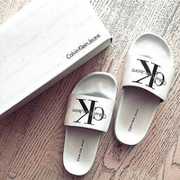 One-nice™ Calvin Klein Casual Woman Fashion Sandals Slipper Shoes