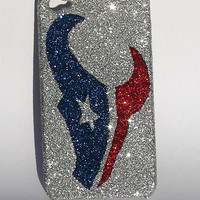 Glitter Houston Texans iPhone 4 or 5 Cell Phone Case