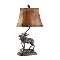 Crestview Collection CVATP582 Majestic Moose Table Lamp