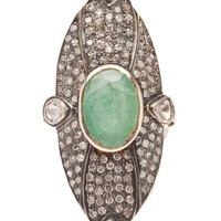 Native Jewels Diamond And Emerald Ring - Church - Farfetch.com