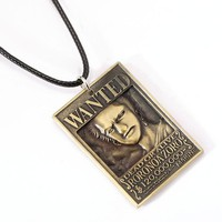 One Piece Wanted Poster Roronoa Zoro Metal Alloy Necklace