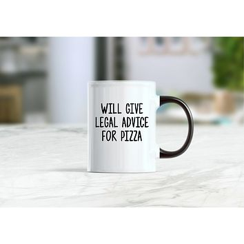 Will give advice for pizza coffee mug