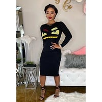 FENDI Women Long Sleeve Bodycon Dress