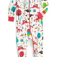 Hatley 'Mystical Forest' Fitted One-Piece Pajamas (Baby Girls) | Nordstrom