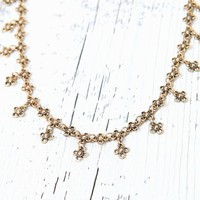 LA Hearts Delicate Statement Necklace - Womens Jewelry - Gold - One