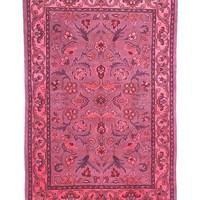 4x6 Over-Dyed Mauve & Bubblegum Pink Wool Rug woh-2630