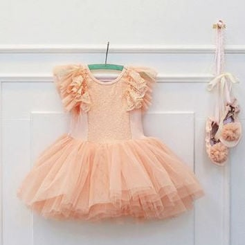 Posh Pink Sequin and Tulle Dress - flower girl dress, girls tulle dress, girls lace dress, wedding, pageants, pink tutu dress