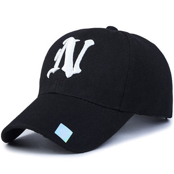 Letter N Polo Outdoor Sport Casual Baseball Cap