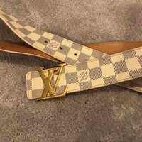 Louis Vuitton, Damier Azur Belt,