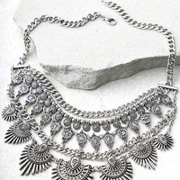 Flair for the Dramatic Silver Statement Necklace