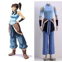 The Legend of Korra Korra outfit Cosplay costumes