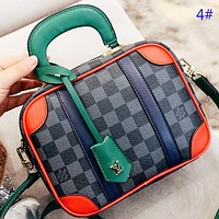 Louis Vuitton LV Fashion New Monogram Tartan Print Leather Box Shape Handbag Shopping Leisure  Shoulder Bag Crossbody Bag 4#
