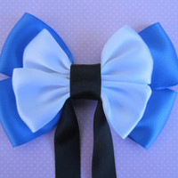Alice In Wonderland Disney Inspired Hair Bow with Tails