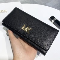 MK Michael Kor New fashion leather wallet purse handbag women Black