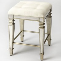 Celeste Transitional Square Counter Stool Silver