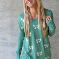 Piace Boutique - Bow-Dacious Sweater in Tops