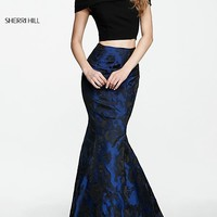Off-the-Shoulder Long Two-Piece Prom Dress