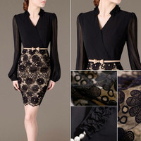 Fashion Women Summer Bandage Bodycon Lace Evening Sexy Party Cocktail Mini Dress = 1931491332