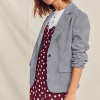 Urban Renewal Remade Checked Blazer   Urban Outfitters