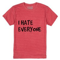 I Hate Everyone-Unisex Heather Red T-Shirt