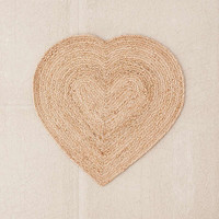 Jute Heart Rug | Urban Outfitters