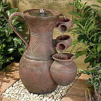 Terracotta Effect Pitcher Cascade | Garden | Home & Lifestyle | Kaleidoscope