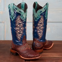 Lucchese Ladies' Full Quill Ostrich Boots