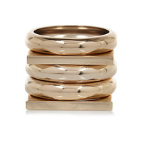 River Island Womens Yellow gold clean bangle pack
