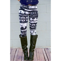 Casual Abstract Printed Bodycon Leggings For Women