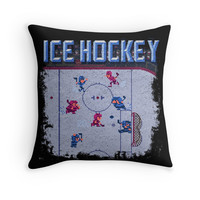'Hockey Ice' Throw Pillow by likelikes