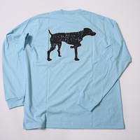 Light Blue Vintage Logo Long Sleeve Tee | Southern Point Co.