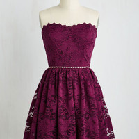 Strapless Fit & Flare Go Awe In Dress