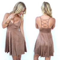 Gamble With Desire Dress In Camel