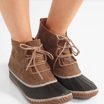 Sorel - Out N About™ waterproof nubuck and rubber boots