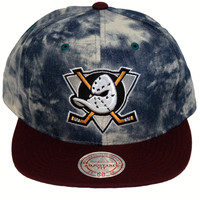 Anaheim Ducks Blue Acid Wash Denim Snapback