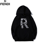 Fendi 2019 new reflective digital label hooded sweater black
