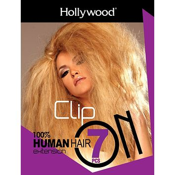 Zury Hollywood Plus Clip-On 7 Pieces Human Hair Extensions
