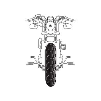 Front of  Motorcycle Vinyl Wall Decal Sticker. #OS_DC748