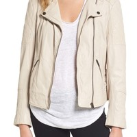 cupcakes and cashmere Darby Leather Moto Jacket | Nordstrom