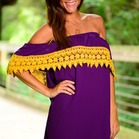 Half Time Special Dress,Purple/Gold