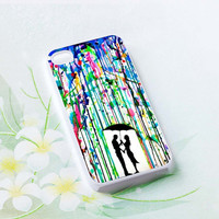 Love Song Romantic in The Rain Paint Hard plastic case iphone 4,4s,5,samsung s3 i9300,samsung s4 i9500