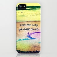 Love the way you look at me - for iphone iPhone & iPod Case by Simone Morana Cyla