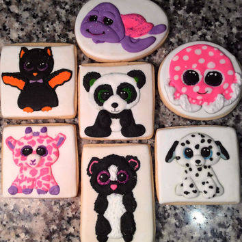 Beanie Boo Decorated Cookies